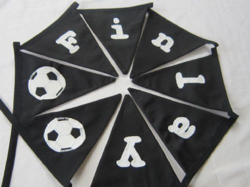 Personalised Football Bunting